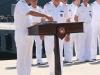 Die Flottillenadmirale Tosun und Kähler bei den Vorbereitungen für die Kommandoübernahme.
